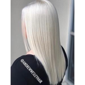Winter springs platinum blonde hair