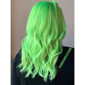 Winter springs green fashion color hair