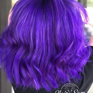 Winter springs purple vivid hair hair by sam