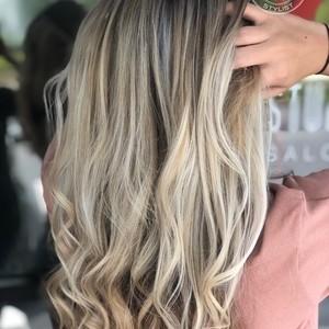 Winter springs blonde balayage hair by sam