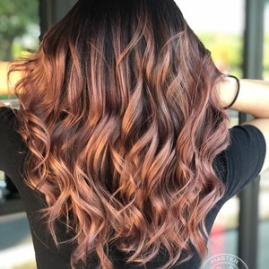 Winter springs copper balayage hair by sam