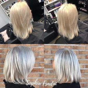 Winter garden platinum blonde hair