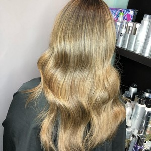 Winter garden bronde hair color