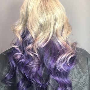 Winter garden blonde and purple hair