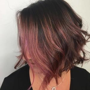 Ft. lauderdale rose gold bob hair cut