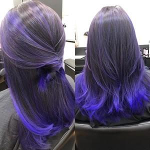 Ft. lauderdale purple balayage hair