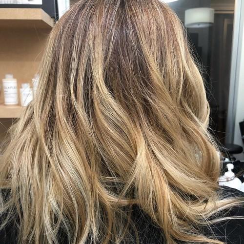 Ft. lauderdale blonde balayage hair 2