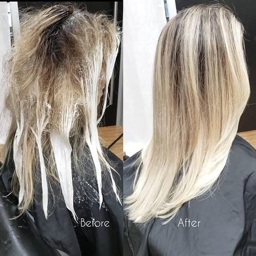 Ft. lauderdale blonde color retouch