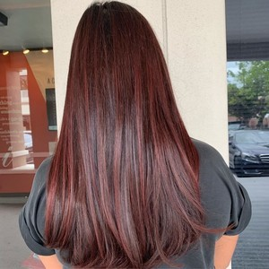 Ft. lauderdale red balayage hair