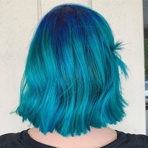 Ft. lauderdale blue balayage hair