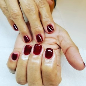 Boca raton red gel nails