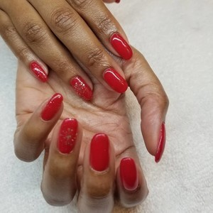 Boca raton red gel nails 2