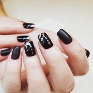 Boca raton matte black nails