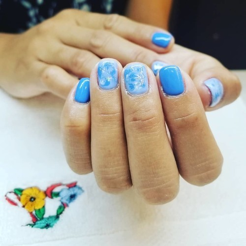 Boca raton blue marble nails