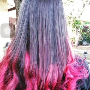 Boca raton pink ombre hair