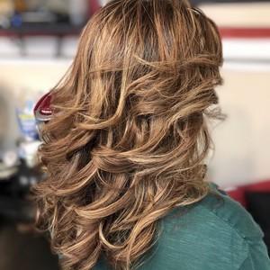 Boca raton bruntte balayage hair