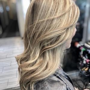 Boca raton blonde balayage hair