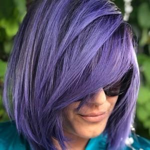 Boca raton purple balayage hair