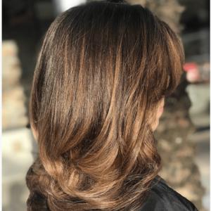 Boca raton brunette balayage hair