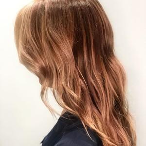 Orlando balayage rose gold hair