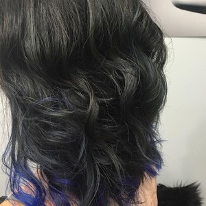 Waterford lakes orlano womens black and blue hair
