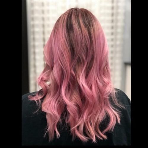 Orlando metrowest pink balayage hair
