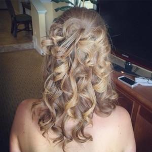 Orlando wedding updo hair