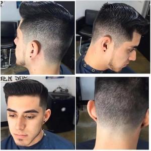 Orlando mens clean cut with clean strap beard