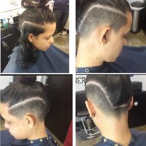 Orlando mens hair cut hard part