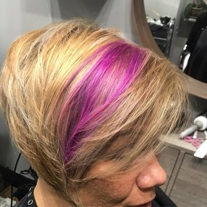 Orlando dr. phillips blonde and pink hair