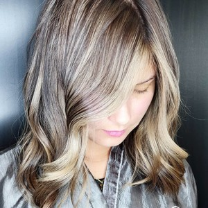 Balayage with dimensional color