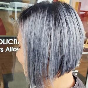 Silver smokey hair