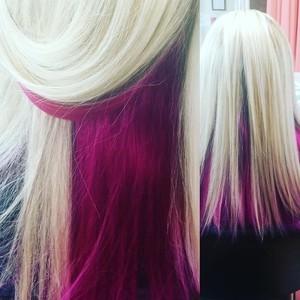 Orlando blonde magenta hair