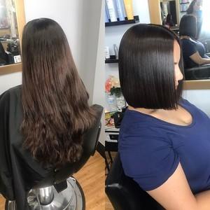 Maitland blunt hair cut