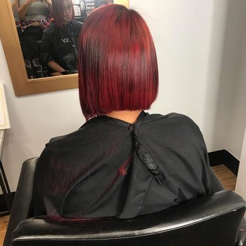Maitland asymmetrical bob hair cut