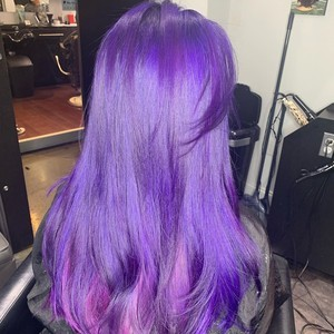 East colonial purple hair