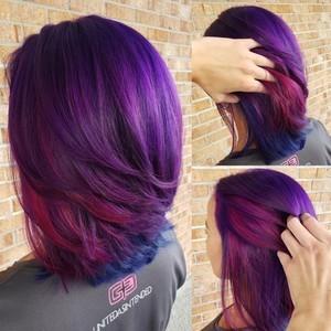 Winter garden purple and pink hair