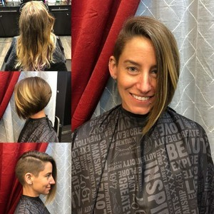 Winter garden hair cut with shaved side