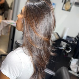 East colonial orlando caramel balayage hair