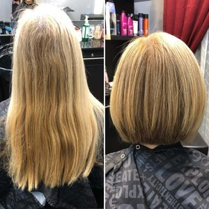 Winter garden blonde hair cut