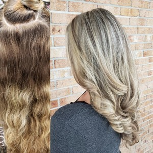 Winter garden blonde balayage