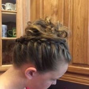 Winter garden updo hair