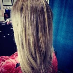 College park orlando blonde balayage hair