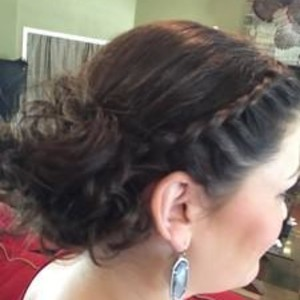 Winter garden bridal hair