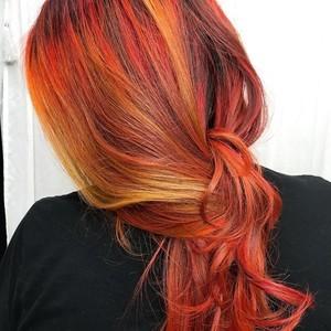Winter garden red and orange hair
