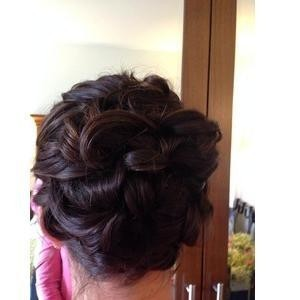 Winter garden updo hair 1