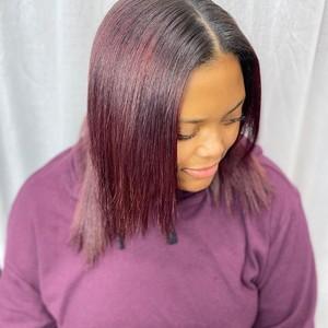 Winter garden plum hair color