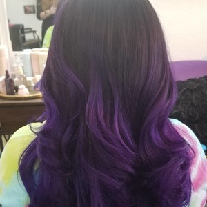 College park orlando purple hair cut
