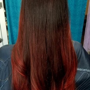 College park orlando red hair cut