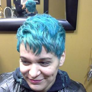 Hair blue vivids